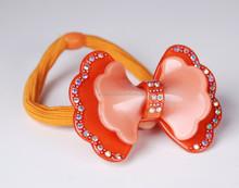 Women fashion elastic hair bands ,glitter bow hair tie