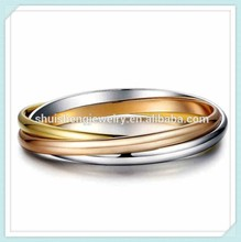 Shuisheng jewelry fashion wholesale triple bangle for ladies
