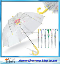 Transparent Bubble Dome Kids umbrellas with custom printed