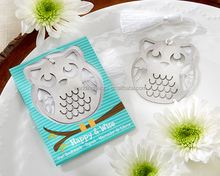 Happy & Wise Brushed Metal Owl Bookmark