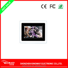 K-1710 Kinoway 800*480 resolution 7 inch metal digital photo frame/lcd picture frame /Music & picture & video player