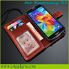 2015 Hot selling New products luxury wallet style PU leather case for Samsung galaxy S5 ,for galaxy s5 case with card holder