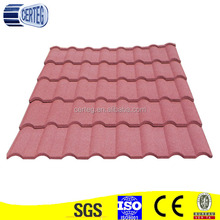 Beautiful Colorful Stone Coated Roof Tile for Villa Roofing