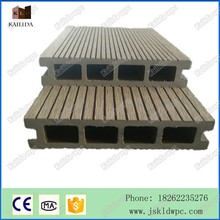 Factory Price 140*25mm outdoor flooring/decking wpc hollow decking wood plastic composite price