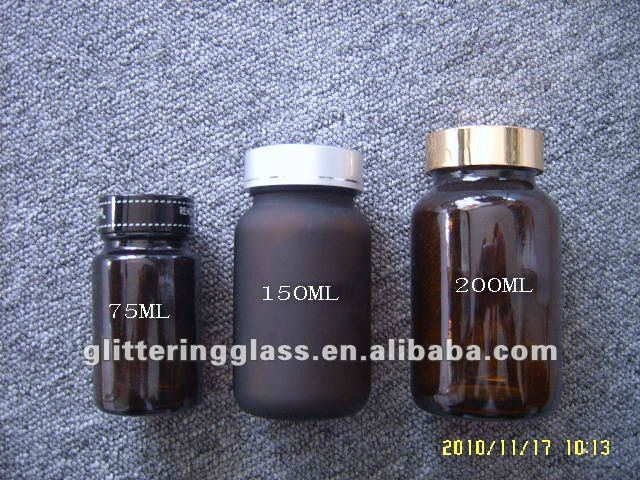 Brown 200ml glass medicine bottles