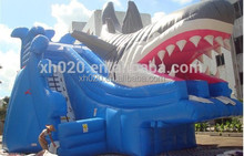 Top sale shark pool inflatable water slide for adult