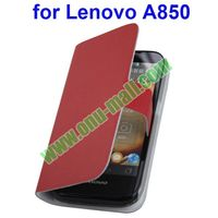Genuine Leather Case for Lenovo A850 Cover with Card Slots