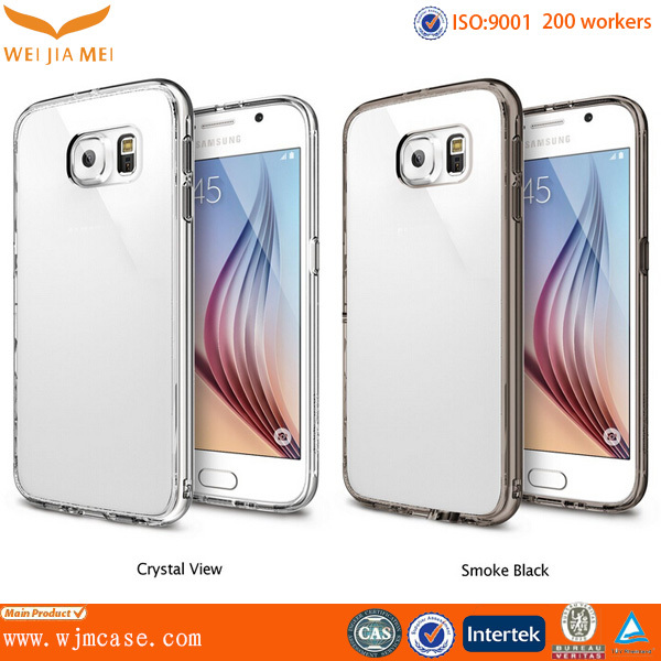 New Custom Protective TPU Bumper PC Back Clear For Samsung Galaxy S6 Case Cover Factory