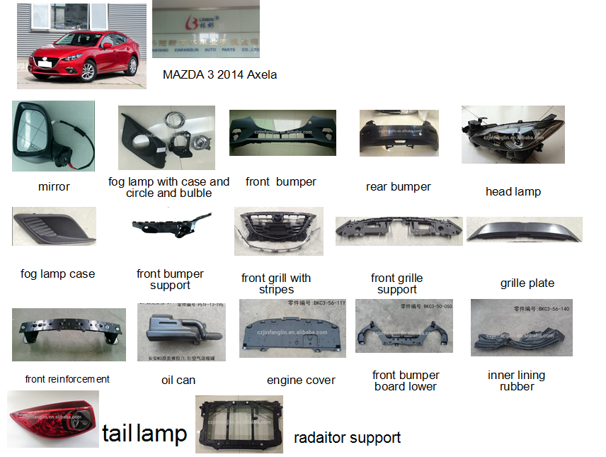 Body Part Description Auto Spare Parts Car Body