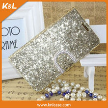 PU Case for Samsung Galaxy Note3 Case, PU leather with diamond Bling