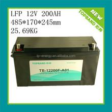 High quality 12v lithium battery 200ah LiFePO4 for energy storage/ups/solar system