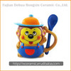 Made in China Hot Sale 3D Hand-Painted Cartoon Style Ceramic Mug With Spoon