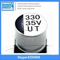 Capacitor Aluminium 330UF 35V 20% SMD 247mA 7000Hours 10x10mm EEE-1VA331P 105C (best price) UT KZD Series