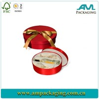 Fabric Covered Wine Bottle and Glass Round Gift Box