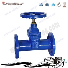 DIN 3352 F5 resilient seated flanged 4 inch Non rising stem gate valve
