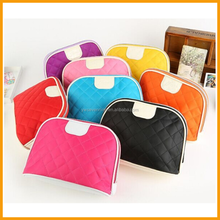Hot Sale Custom Candy Polyester Makeup Travel Toiletry Promotional Fashion Cosmetic Bags With Mirror