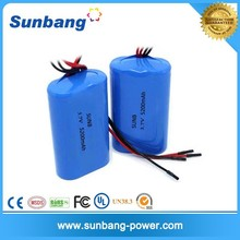 1S2P 3.7V 5200mah 18650 li ion cell with PCM li-ion battery pack rechargeable battery packs 3.7v