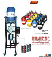 semi-automatic color toner filling machine for laser toner cartridge