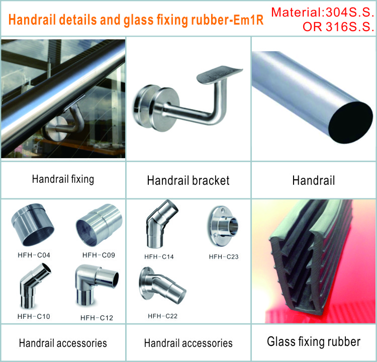 cantilevered  decking railing kits with toughend glass
