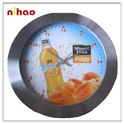 2015 Unique Funny Glass Wall Clock Design for Promotion