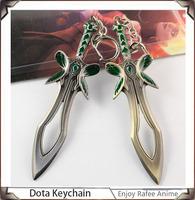 Popular Game Dota2 Metal Sword Keychain