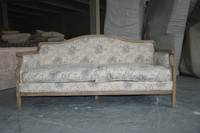 Popular home furniture of antique style living room fabric sofa
