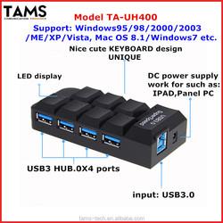 unique keyboard design USB3.0 HUB 4 ports
