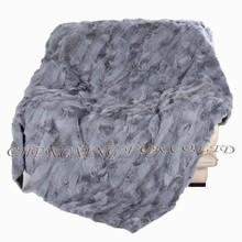 Cx-d-37 china wholesale patchwork vera pelliccia di coniglio tiro coperta