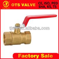 QV-SY-262 4 inch brass ball valve femal thread 1000 wog for water tank
