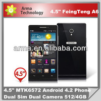 New Arrival 4.5 inch cheap 3G HTM A6W mobile phone MTK6572 Dual core/Dual sim
