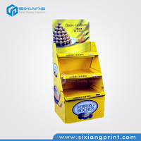 Advertising Shop Cardboard Exhibition Display Stand for Chocolate