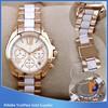 Top Brand wrist Watch women,Japan movt quartz Stainless Steel back MK watch