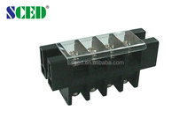 Through Terminal Block For Electric Power with cover PBT and current 75A