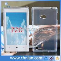 Customize design plain tpu phone case for nokia lumia 720 custom phone covers