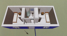 Shipping container house plans/ movable house/ prefab container house