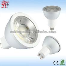 High lumenled dc12v gu10 cob spot light 6w Warm white led bulb