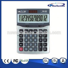 12 digits desktop solar big calculator with large display