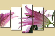 Lily flower 5 parts oil painting group