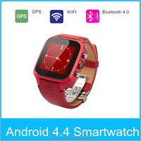 One SIM Card Android OS 4.4 GPS WIFI 3G 5MP Android Smart Watch camera