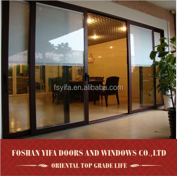 Used commercial automatic large tinted sliding glass doors for Large sliding glass doors for sale