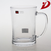 Clear drinking water cup,glassware with handle