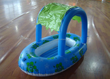 Inflatable Baby Seat Ring With A Shed