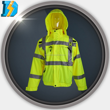 safety vest glow with 2 chest pockets zipper closed adjustable cuff