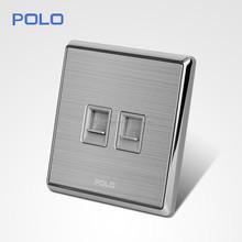 2015 europe hot dedicated double Tel socket /double lan socket