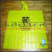 Pe raincoat disposable rain poncho& Reusable Rain Poncho