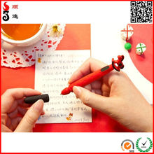 2015 novelty multi-functional silicone pen with silicone mobile phone headset dustproof plug for promotional gifts