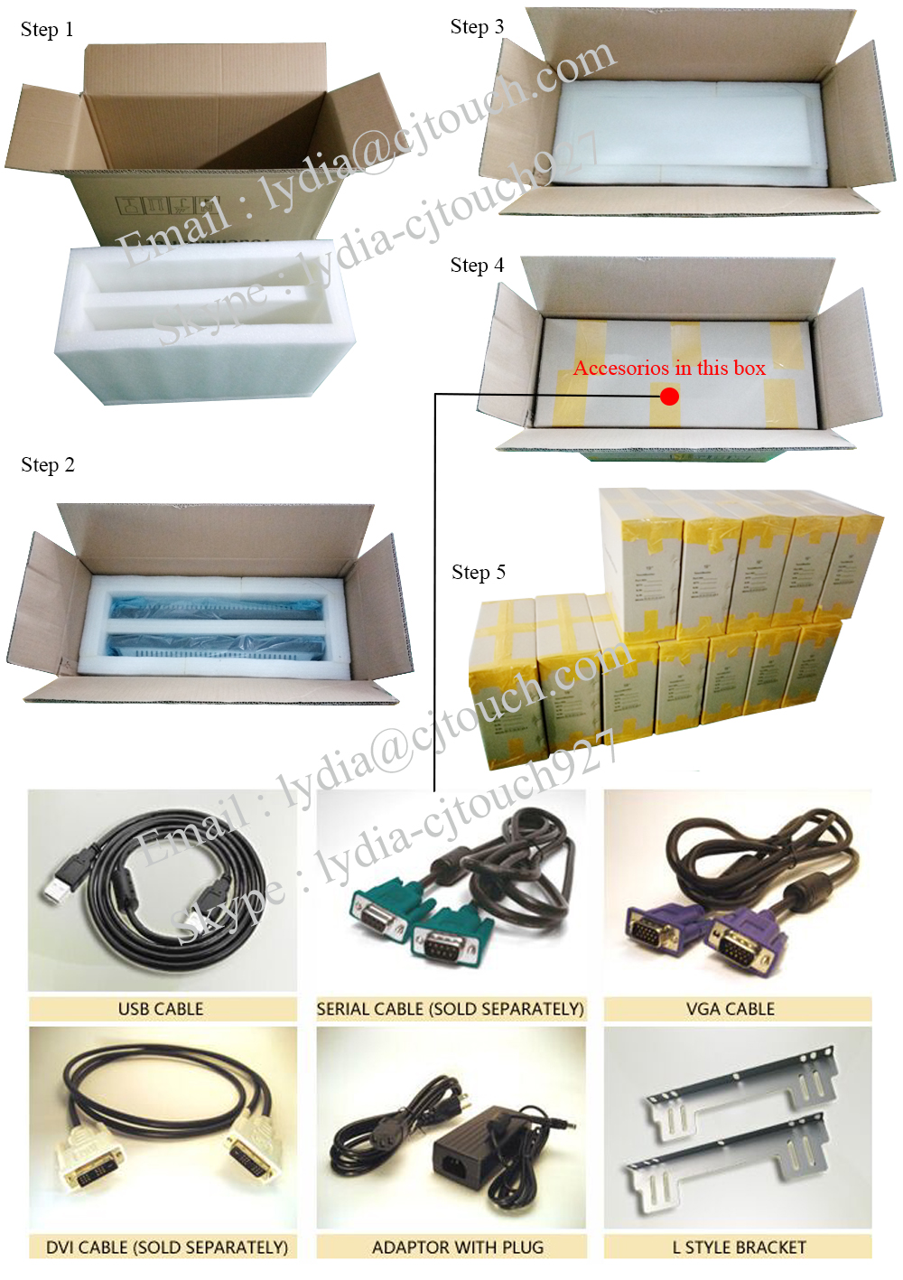 Touch monitor 2pcs package
