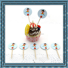 Beautiful design of Fruit & Cupcake topper/cake toothpick/wending cake topper