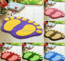 Wholesale Lovely flocking feet absorbent non-slip mats bathroom door mat