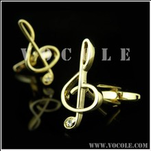 Musical Notes gold fashion hot sell cufflink new arrival wholesale china